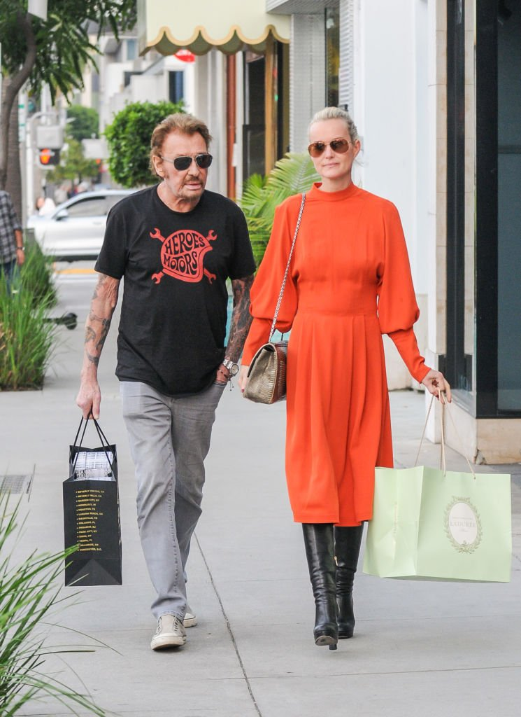Johnny Hallyday et sa femme Laeticia, février 2017 à Los Angeles, Californie | photo : Getty Images