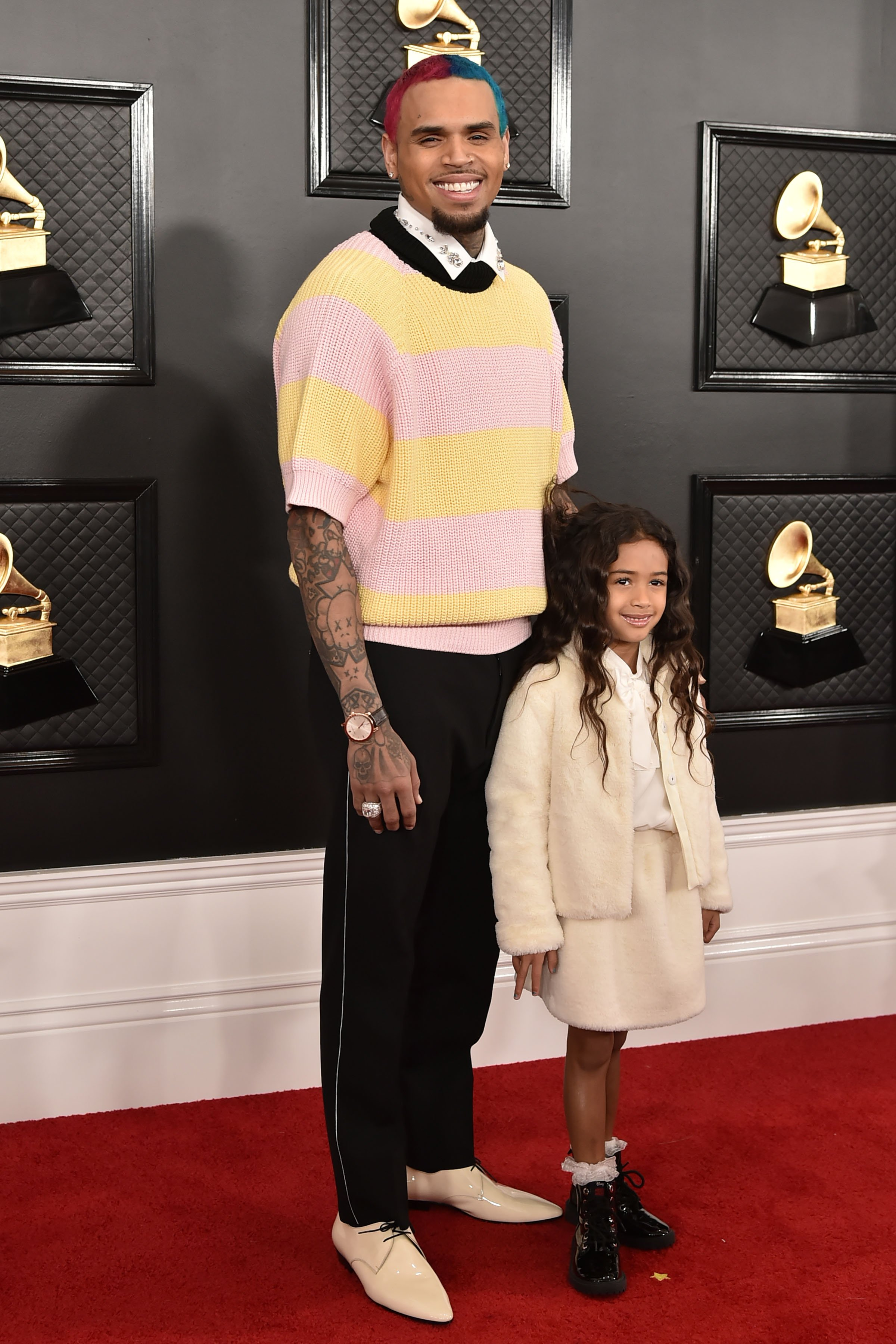 Chris Brown and Royalty Brown attend the 62nd Annual Grammy Awards at Staples Center in Los Angeles, CA. on January 26, 2020 | Photo: Getty Images