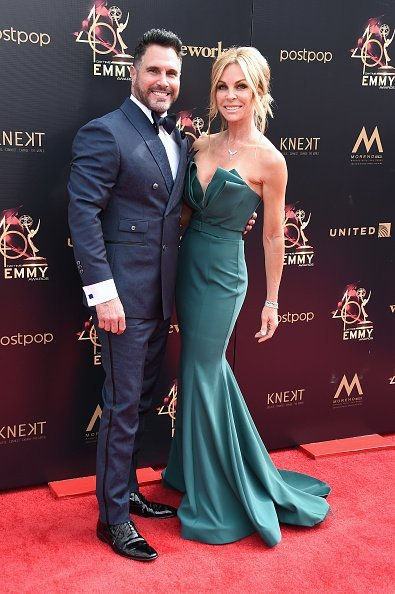 Don Diamont and Cindy Ambuehl attends the 46th annual Daytime Emmy Awards at Pasadena Civic Center | Photo: Getty Images