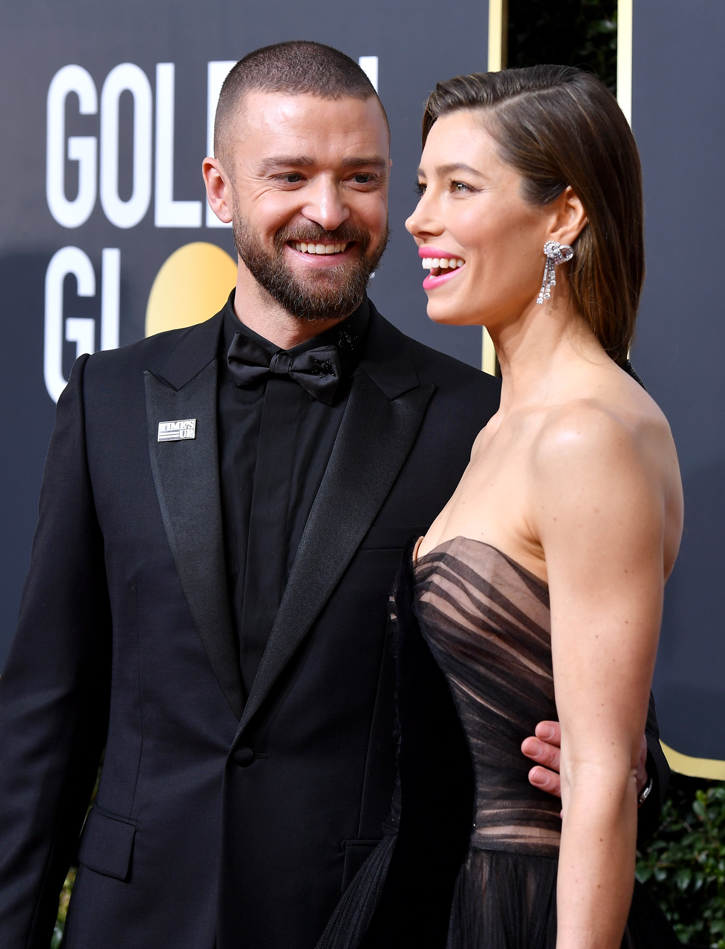 Jessica Biel and Justin Timberlake pictured at The 75th Golden Globe Awards, 2018, California.   Photo: Getty Images