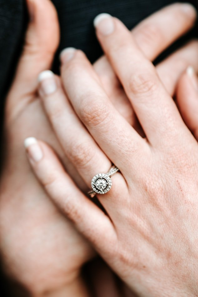 Hand with an engagement ring | Source: Unsplash
