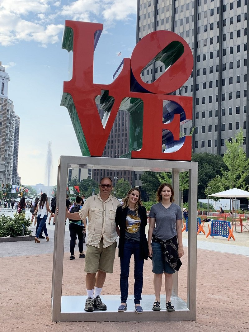 Jessica, Alice, and Aaron in Philadelphia in 2019 | Photo: Courtesy of Jessica Share