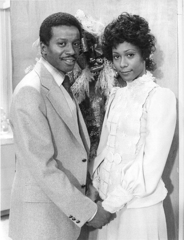 """Damon Evans and Berlinda Tolbert on """"The Jeffersons,"""" 1976   Photo: Wikimedia Commons Images, Public Domain"""