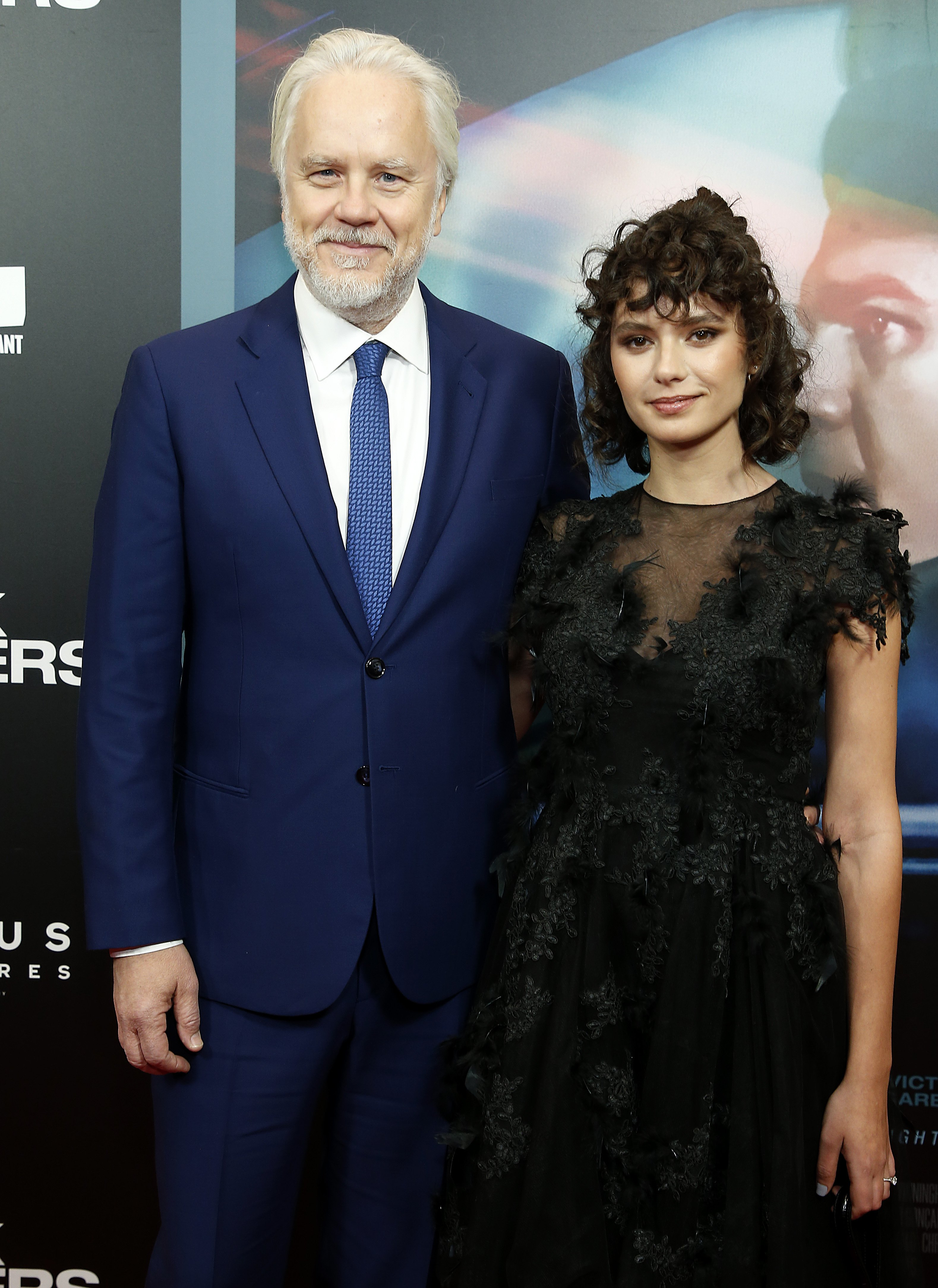 """Tim Robbins and Gratiela Brancusi at the premier of """"Dark Waters"""" in New York, November, 2019.   Photo: Getty Images."""
