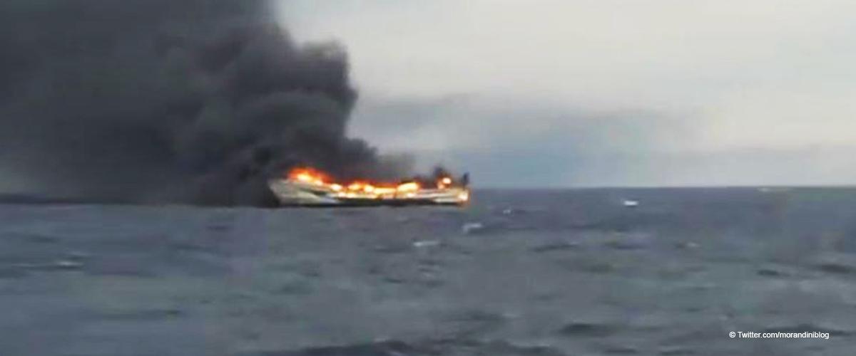 Un chalutier espagnol prend feu à 22 km des côtes françaises, trois blessés, un mort