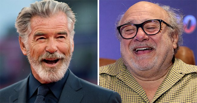Pierce Brosnan Shares Birthday Party Photo and Jokes about Danny Devito's 'Handsome Cranium'