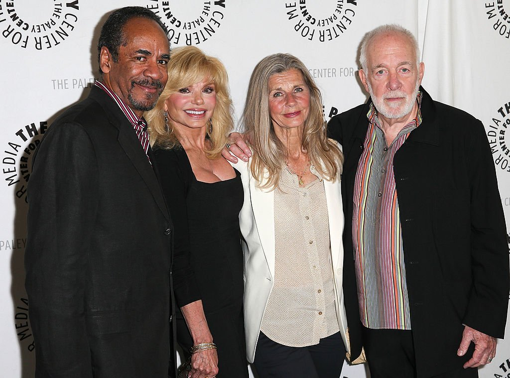 "Tim Reid, Loni Anderson, Jan Smithers, and Howard Hesseman attend the Paley Center presentation of ""Baby, If You've Ever Wondered: A WKRP In Cincinnati Reunion"" 