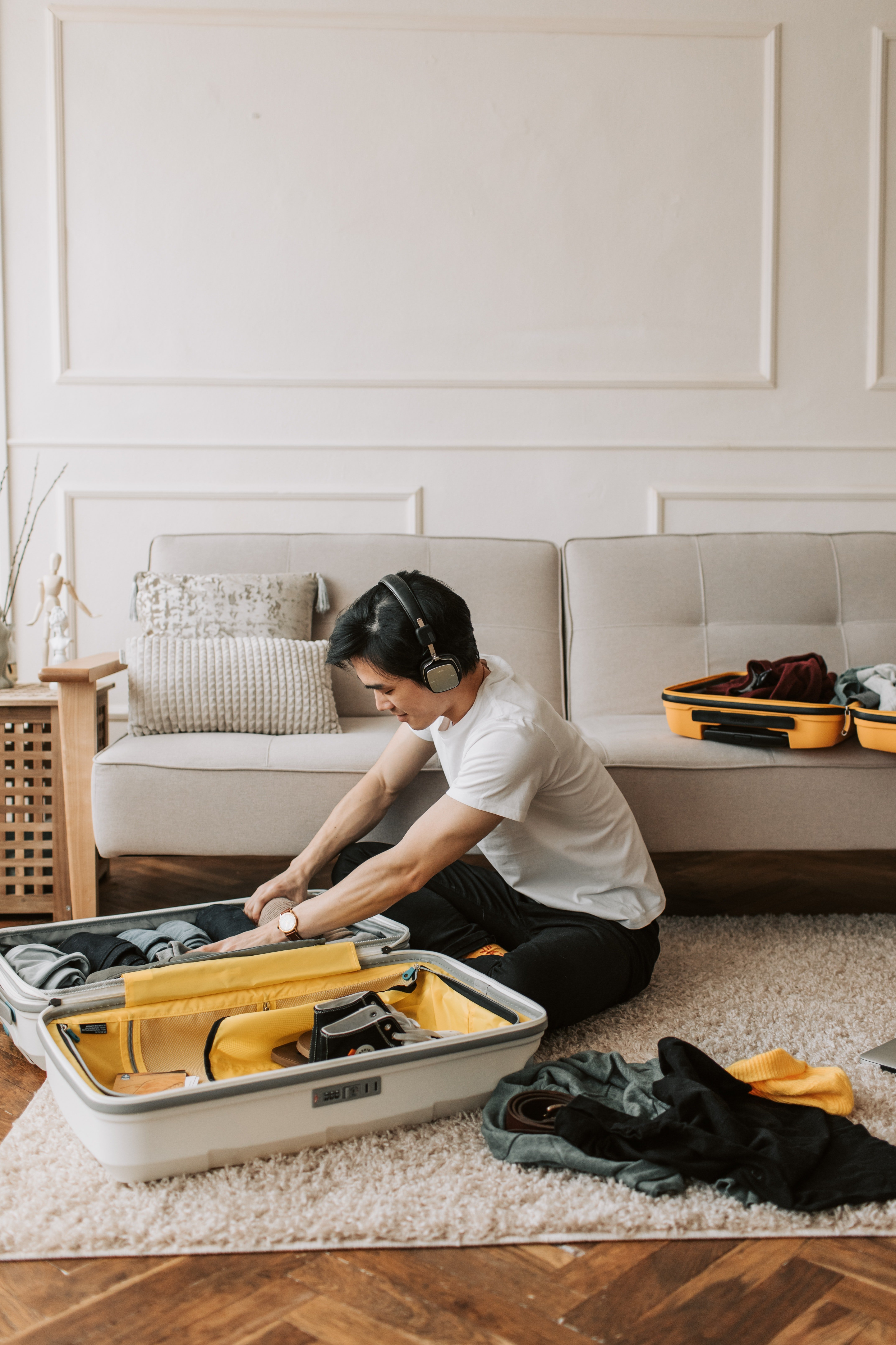 I packed and stayed at my friend's place until my father was back.   Source: Pexel
