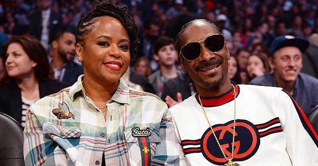 Snoop Dogg's Wife Shante Stuns in a Beige Polka-Dot Dress with a Big Front Bow (Photos)