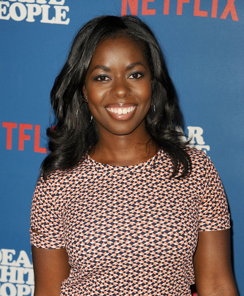 """Actress Camille Winbush attends the 2017 premiere of the Netflix show, """"Dear White People"""" in Los Angeles. 