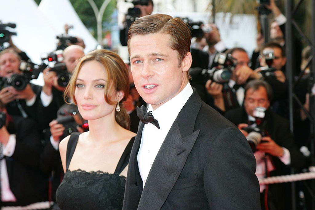 """Brad Pitt and Angelina Jolie at the premiere of """"A Mighty Heart"""" at the 60th Cannes Film Festival on May 21, 2007 