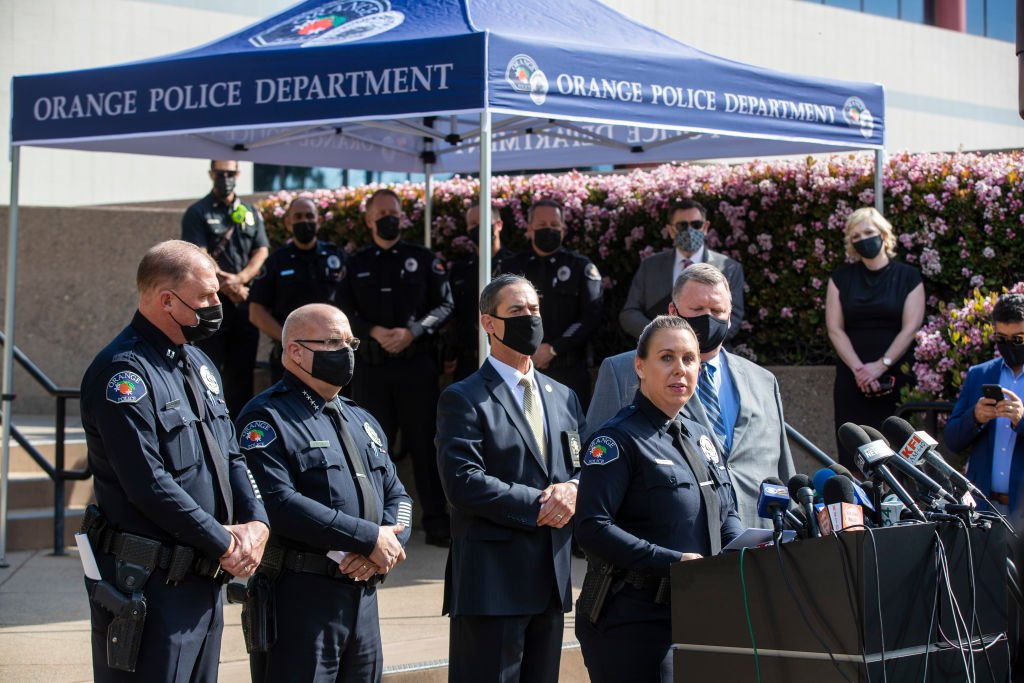 A Press conference update to Orange shootings on Thursday, April 1, 2021 in Orange, CA | Photo: Getty Images