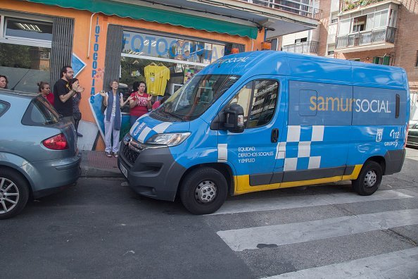 Camioneta del Samur Social. Fuente: Getty Images