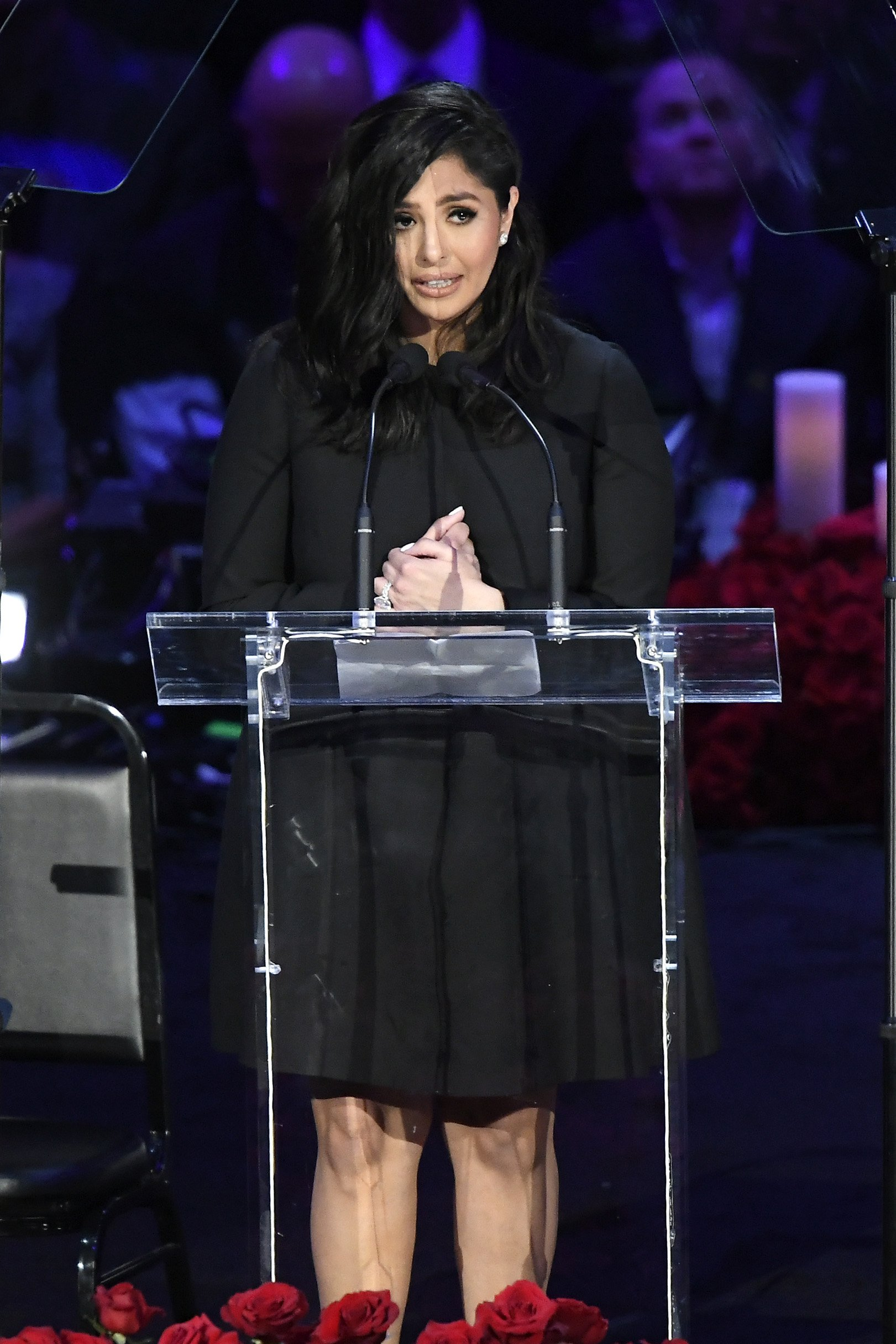 Vanessa Bryant speaking at The Celebration of Life for Kobe & Gianna Bryant at Staples Center on February 24, 2020 in Los Angeles, California | Photo: Kevork Djansezian/Getty Images