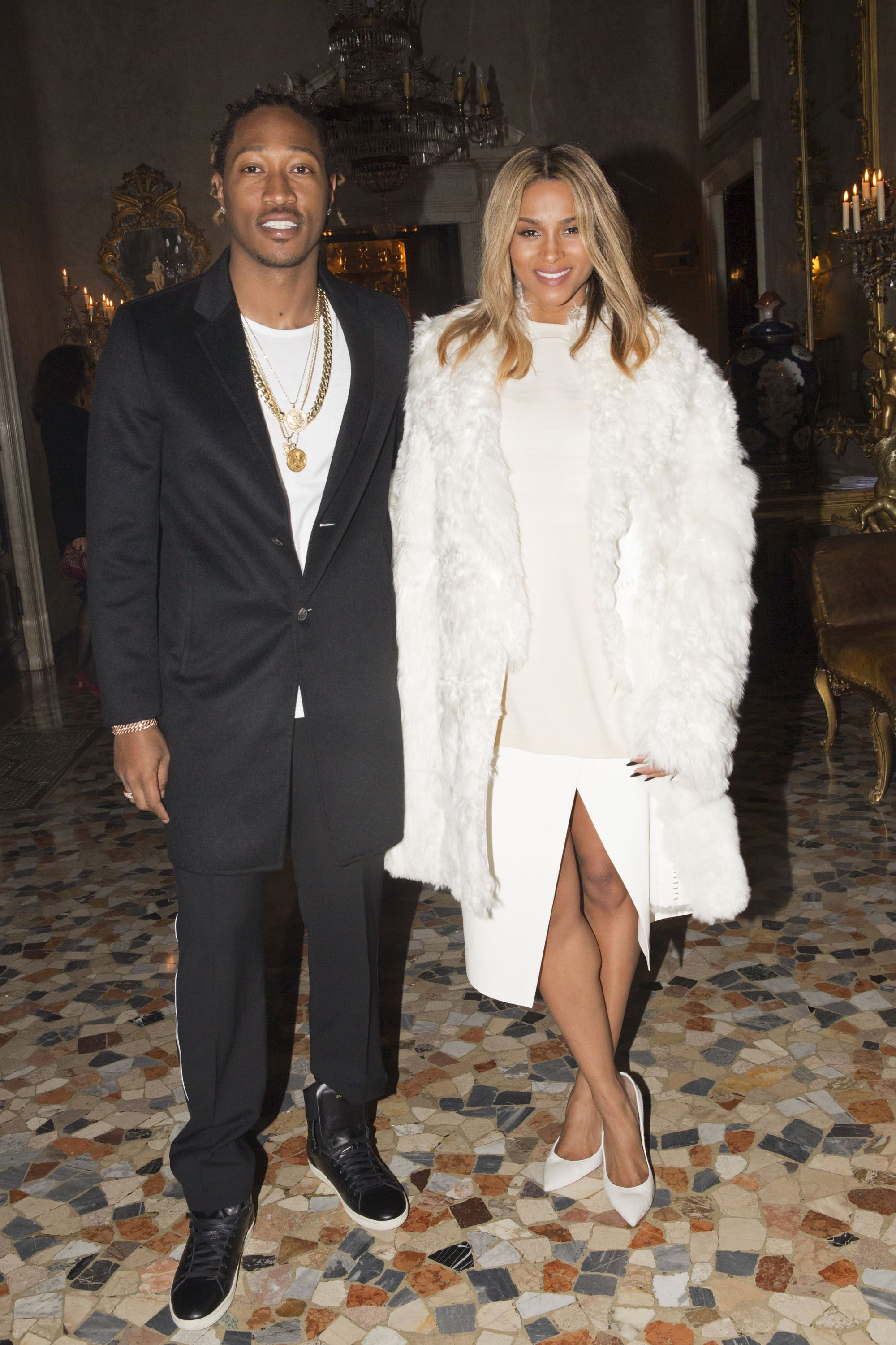 Future and Ciara attend the Calvin Klein Collection after party as a part of Milan Fashion Week Menswear Autumn/Winter 2014 at Palazzo Crespi on January 12, 2014 in Milan, Italy. | Source: Getty Images
