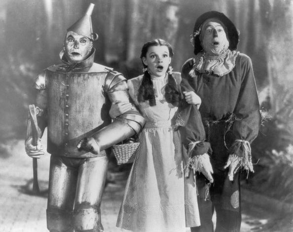 The Tin Man (Jack Haley), Dorothy (Judy Garland) and the Scarecrow (Ray Bolger) in the 'The Wizard of Oz' | Photo: Getty Images