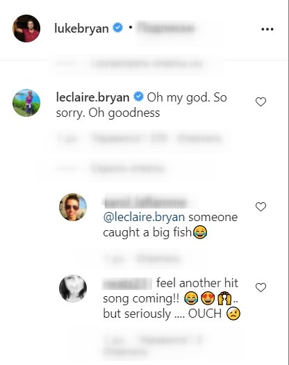 A screenshot of a fan's comment on Luke Bryan's post on his instagram page | Photo: instagram.com/lukebryan/