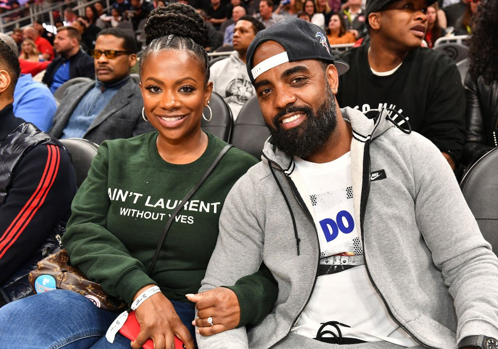 Kandi Burruss and Todd Tucker attend a game between the Charlotte Hornets and Atlanta Hawks | Photo: Getty Images