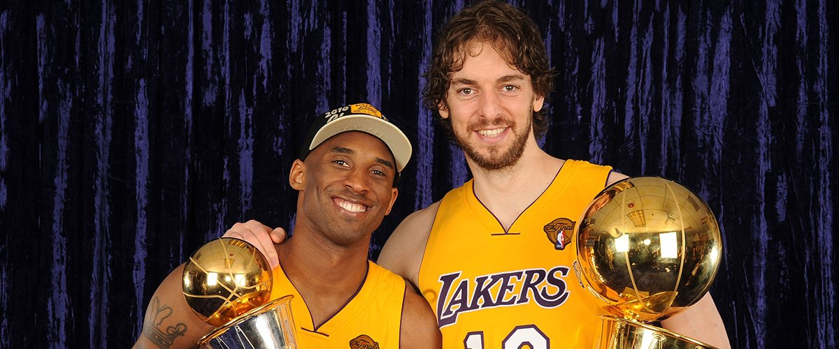 Kobe Bryant #24 and Pau Gasol #16 of the Los Angeles Lakers talk while taking on the Boston Celtics in Game Four of the 2008 NBA Finals on June 12, 2008 at Staples Center | Photo: Getty Images
