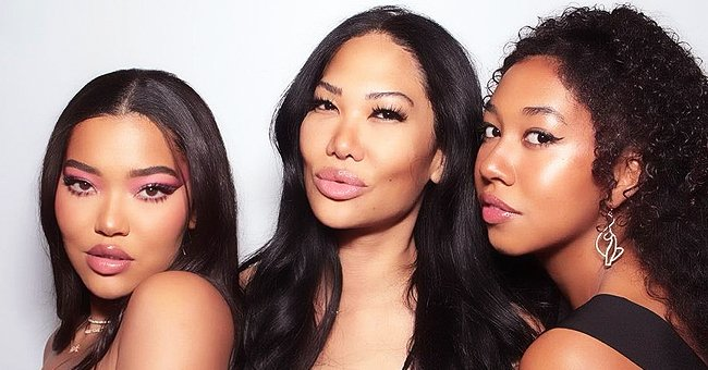 Kimora Lee Simmons Shares Cute Family Photos with Her Mom & Look-Alike Daughters Ming and Aoki