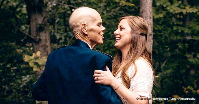Braut bittet Fotografen, ihren Tanz mit todkrankem Vater vorzeitig einzufangen