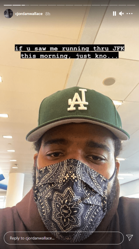Notorious B.I.G.'s son, C.J. Wallace shares a selfie on his Instagram story | Photo: Instagram/cjordanwallace