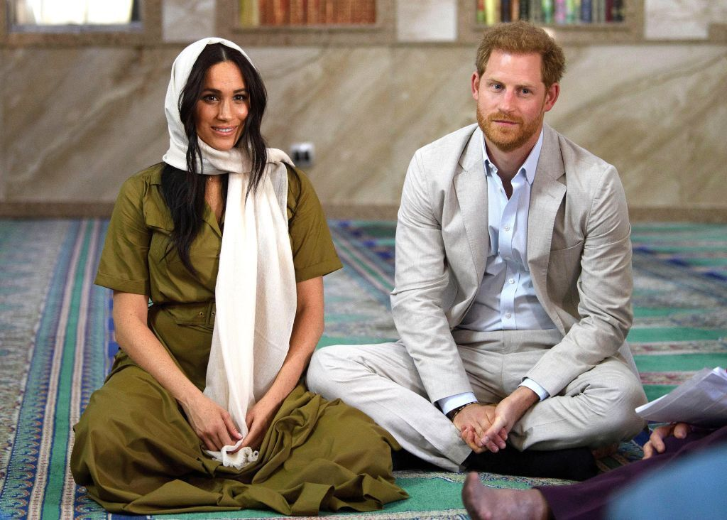 Meghan Markle visits  Auwal Mosque on Heritage Day with Prince Harry during their royal tour of South Africa on September 24, 2019 in Cape Town, South Africa. | Source: Getty Images