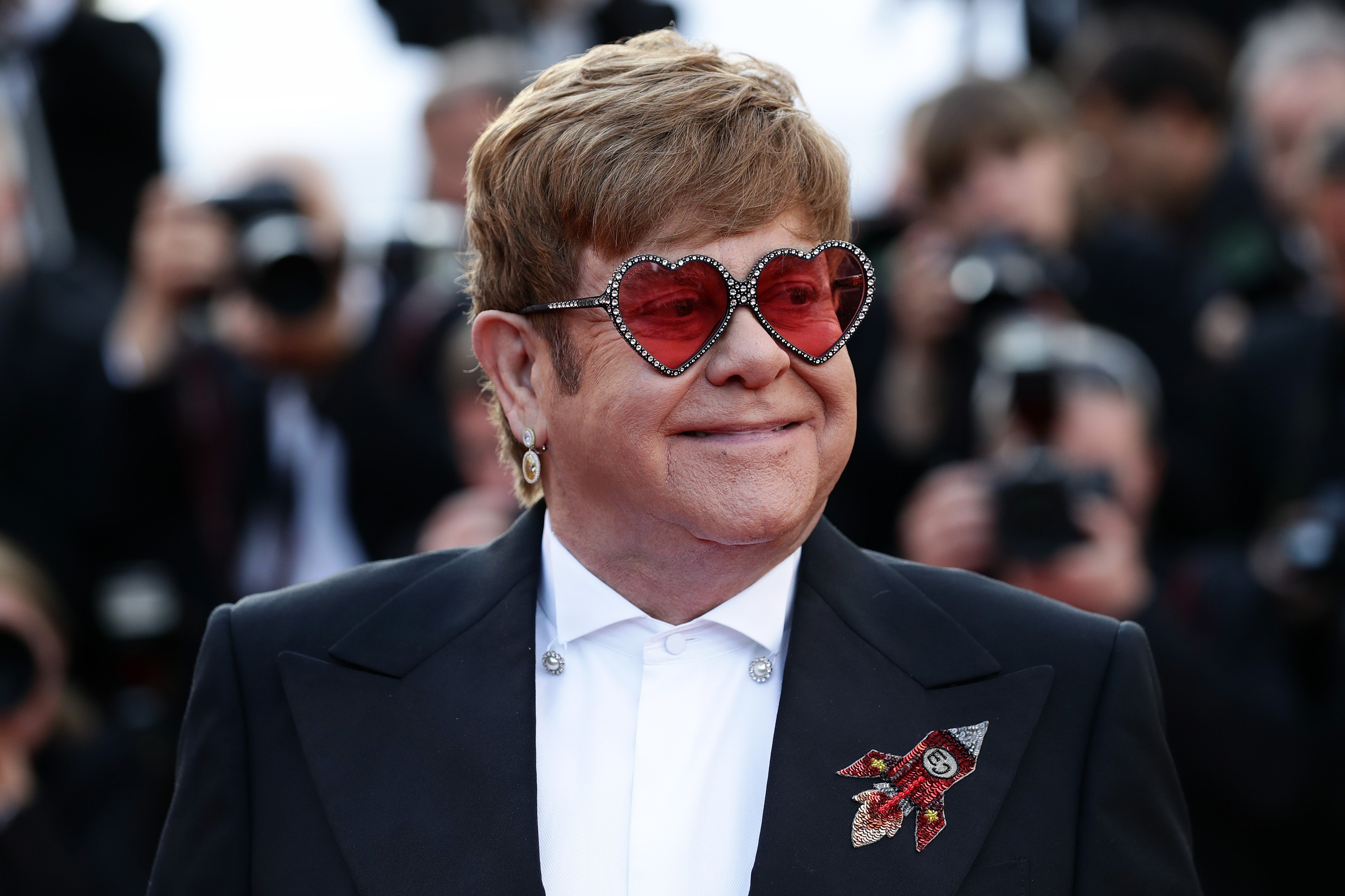 """Sir Elton John at the screening of """"Rocketman"""" during the 72nd annual Cannes Film Festival on May 16, 2019 