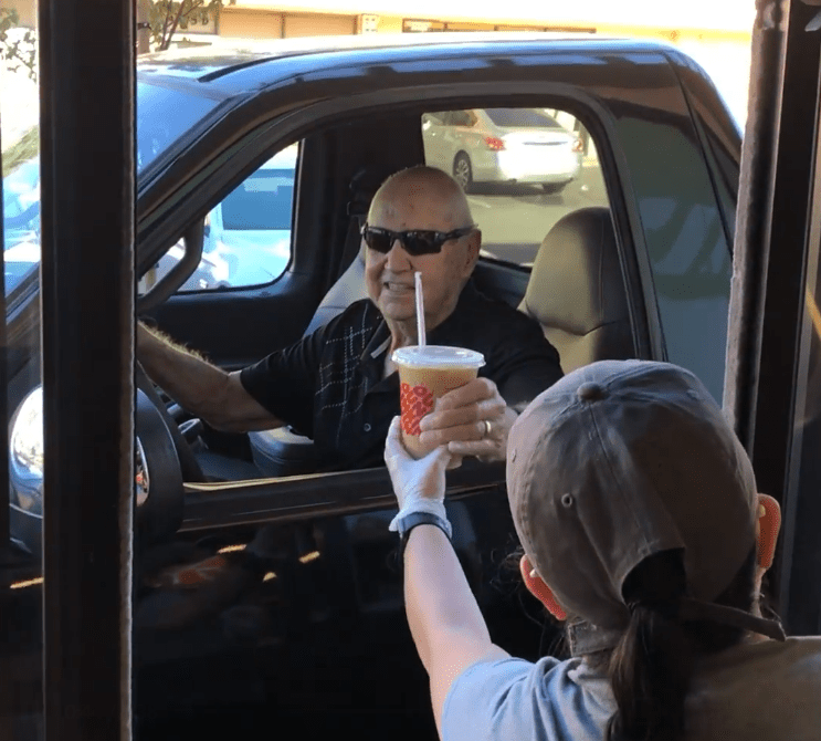 "Gilbert ""Gil"" Walker ordering at Dunkin' Donuts. 