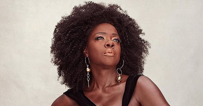Viola Davis Flaunts Her Natural Hair While Posing in a Gorgeous Yellow Dress during a Photo Shoot