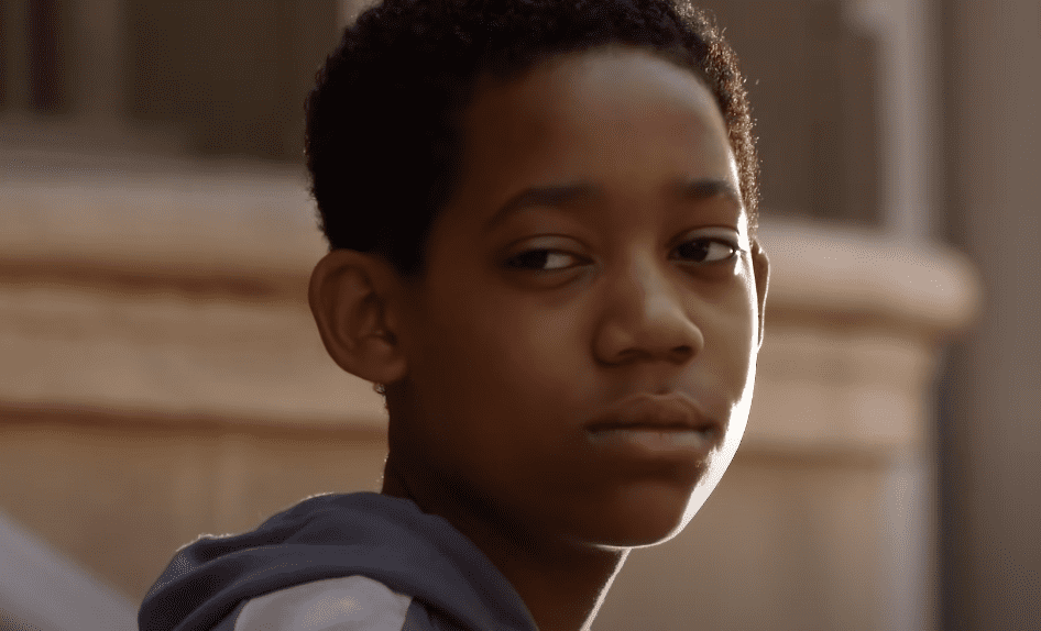 """A screenshot from Tyler James Williams on a clip from """"Everybody Hates Chris"""" on YouTube 