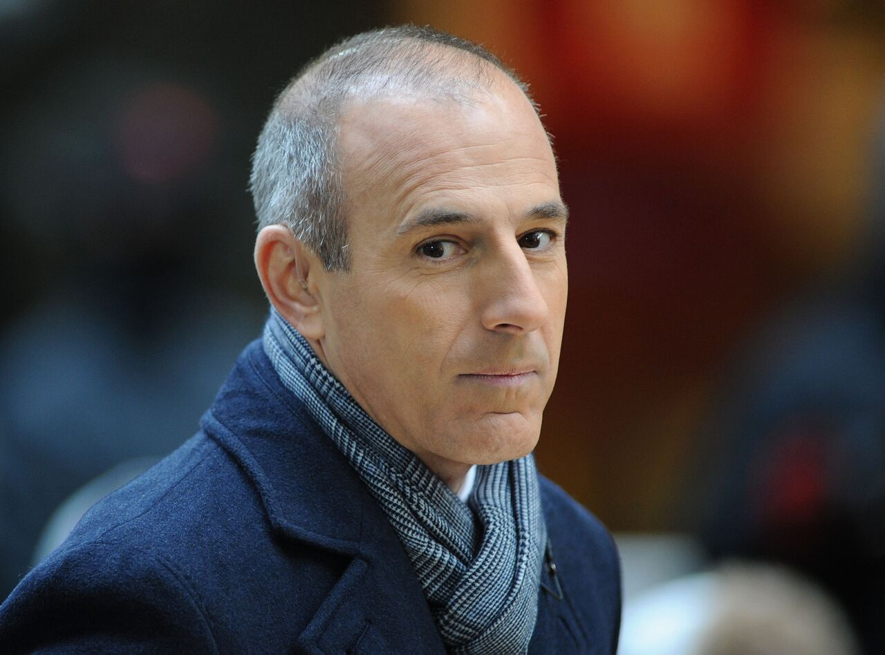 """Matt Lauer attends NBC's """"Today"""" at Rockefeller Plaza.   Source: Getty Images"""