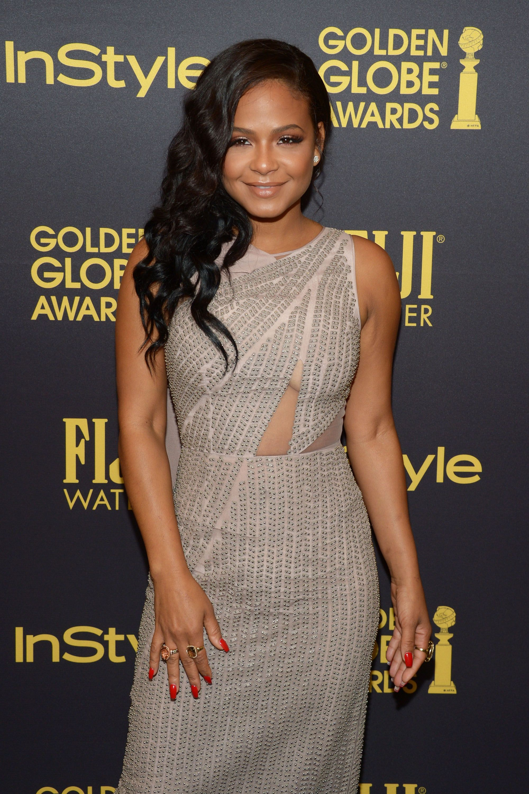 Christina Milian at the Golden Globe Awards. | Source: Getty Images