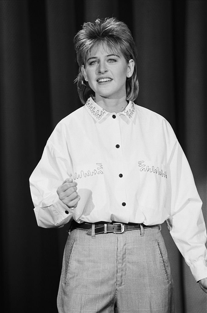 Comedian Ellen DeGeneres performs at The Tonight Show on January 14, 1987. Photo: Getty Images