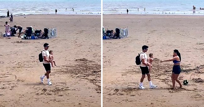 Woman Goes Viral After Being Filmed Reacting Passively to Finding Her Baby Whom She Lost At a Beach