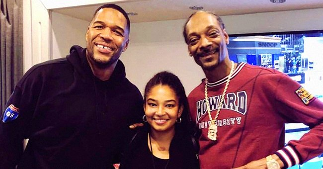 Michael Strahan from 'Strahan, Sara and Keke' Shares Photo with His Eldest Look-Alike Daughter Posing Next to Snoop Dogg