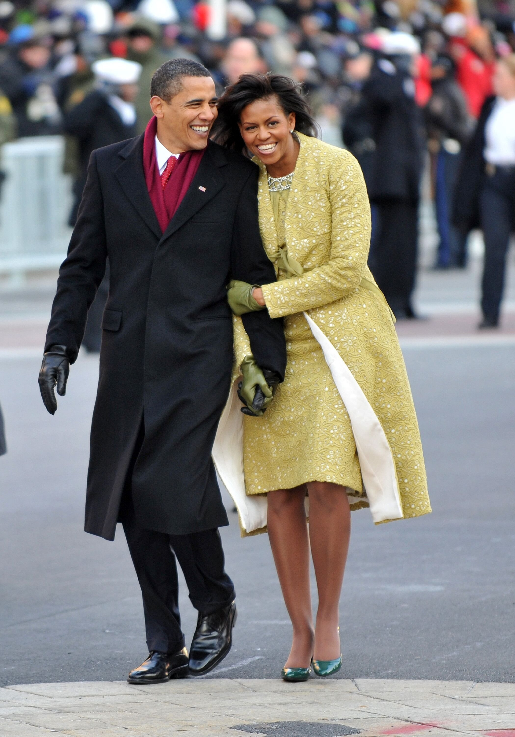 Former President Barack Obama and First lady Michelle Obama at the 2009 Inaugural Parade in Washington, DC | Photo: Ron Sachs-Pool/Getty Images