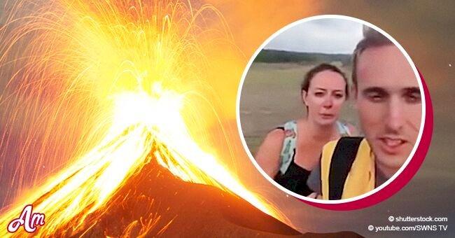 Recién casados compartieron video tras caída de avión cuando fueron a explorar volcán