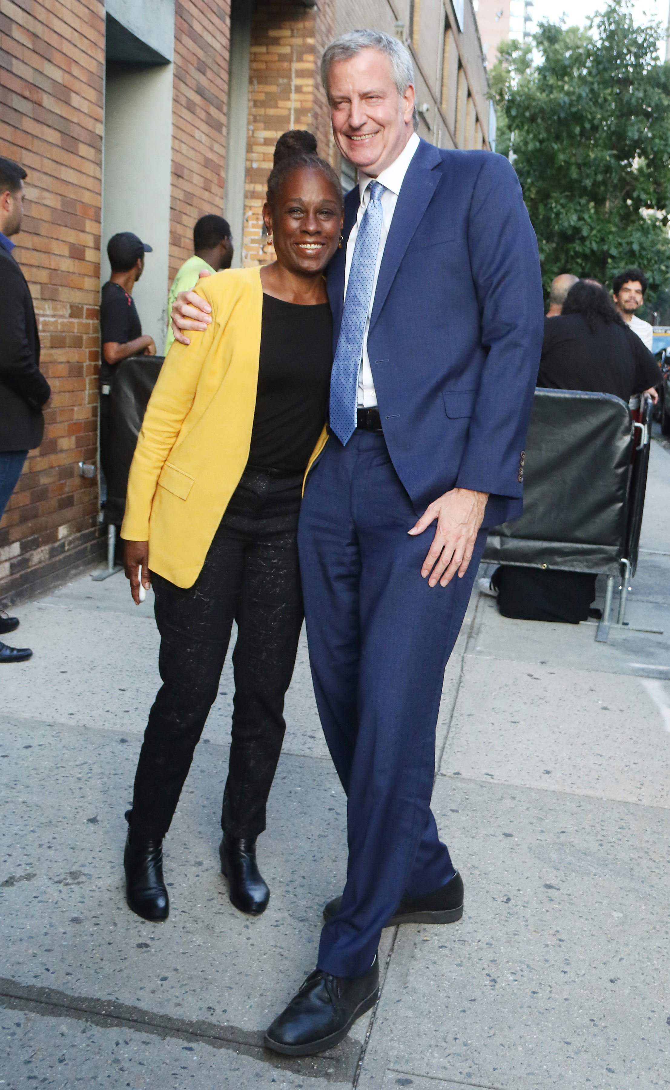 Chirlane McCray and Mayor of New York City and Presidential Candidate Bill de Blasio are seen on August 14, 2019 in New York City | Photo: GettyImages