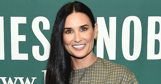 Demi Moore Stuns in Black-And-White Throwback Photo — the Internet Reacts