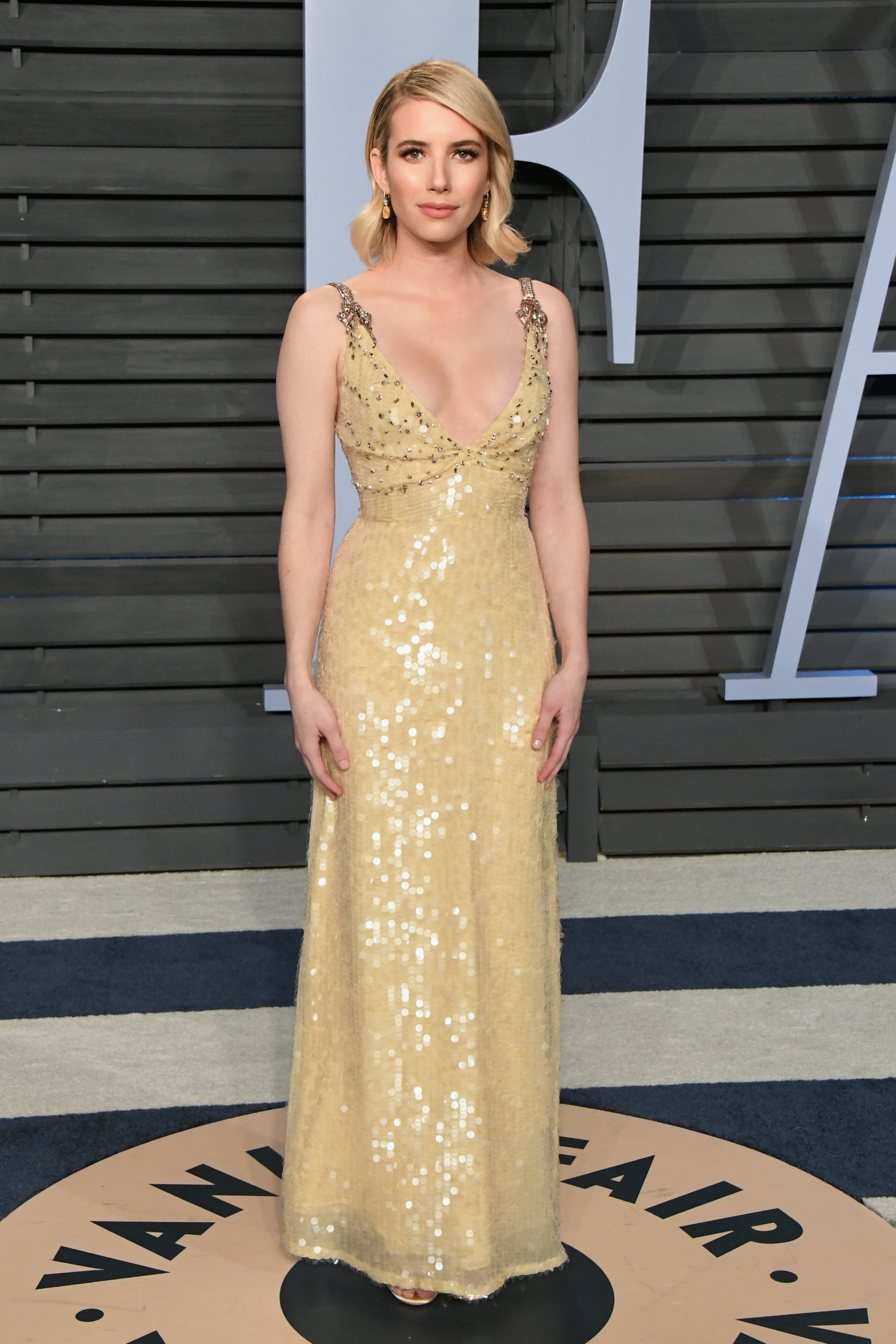 Emma Roberts attends the 2018 Vanity Fair Oscar Party hosted by Radhika Jones at Wallis Annenberg Center for the Performing Arts on March 4, 2018 in Beverly Hills, California | Photo: Getty Images