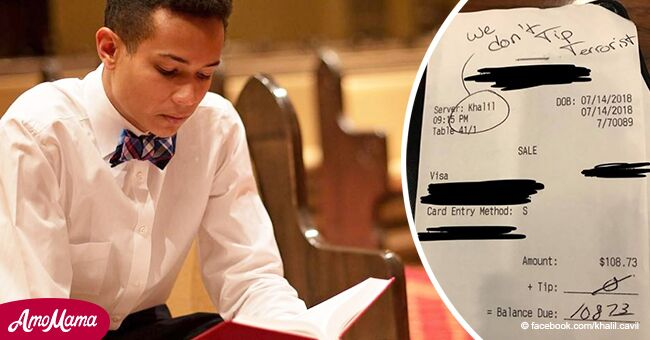 Waiter responds to customer's racist note: 'Jesus died for these people too'