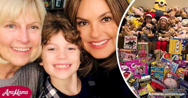 'Law & Order: SVU' star Ryan donates hundreds of toys to poor kids ahead of his 9th birthday