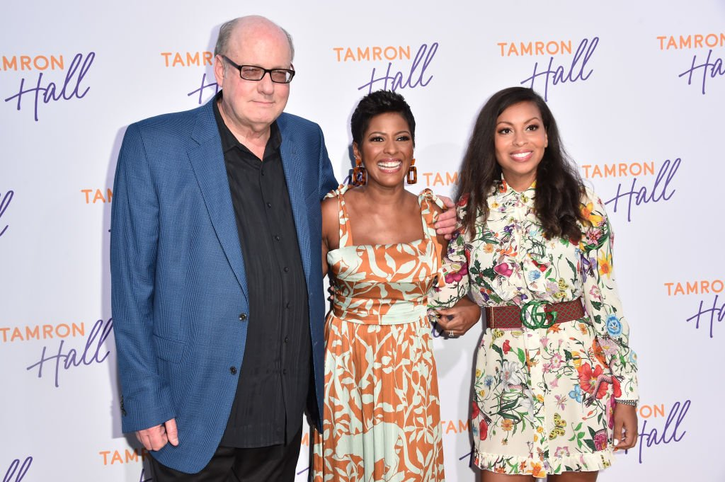 """Tamron Hall with former """"Tamron Hall"""" executive producer Bill Geddie and co-executive producer Talia Parkinson Jones promoting their show at the TCA Summer Press Tour in August 2019. 