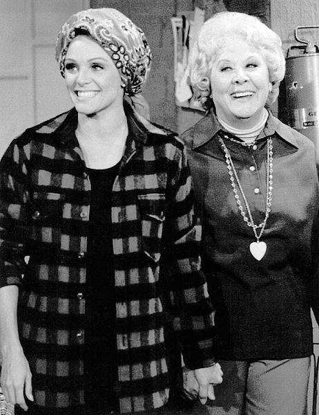 "Valerie Harper as Rhoda and guest star Vivian Vance from the television program ""Rhoda."" 