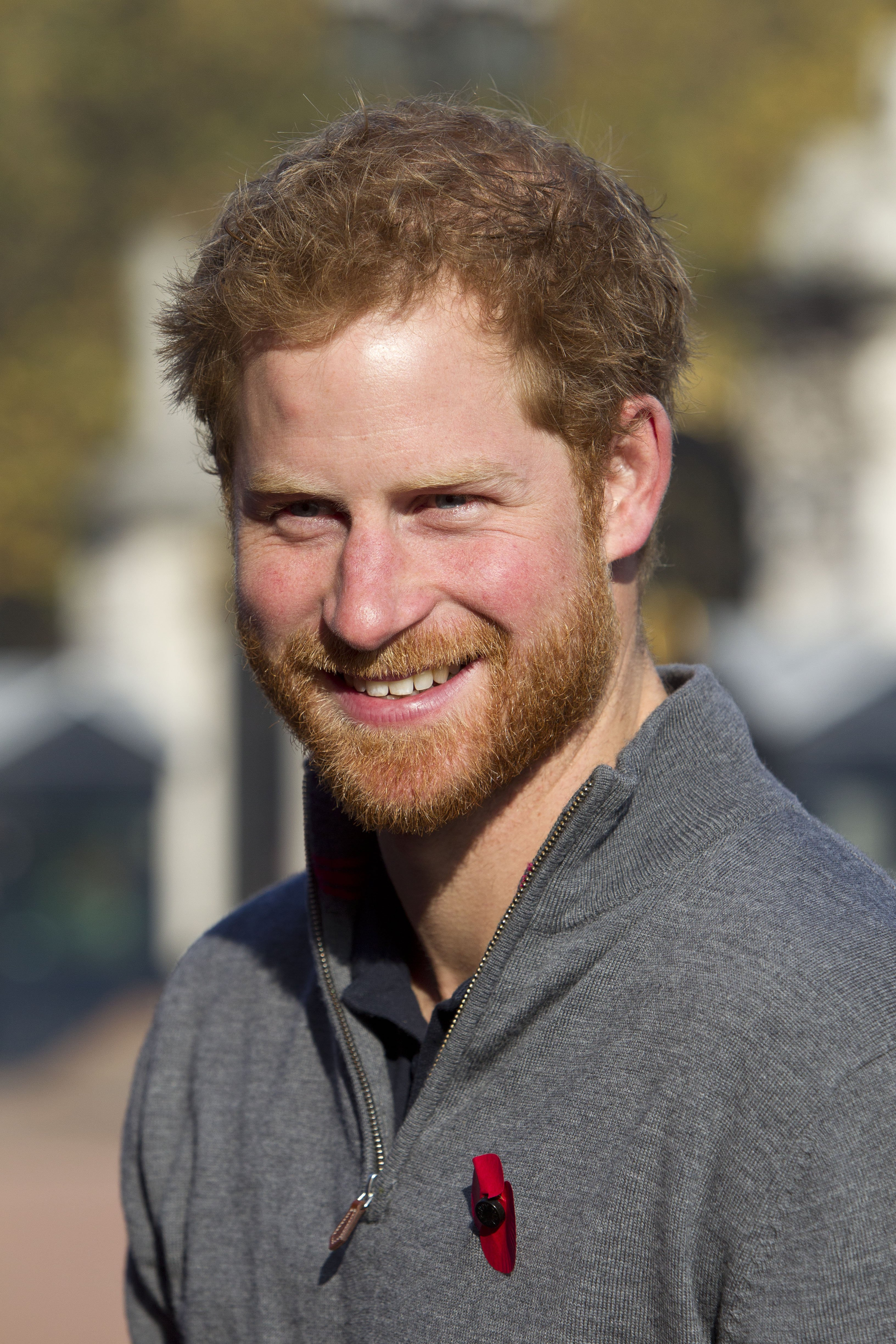 Prince Harry meets with members of the Walking With The Wounded team in the forecourt of Buckingham Palace on November 1, 2015 in London, England | Photo: Getty Images