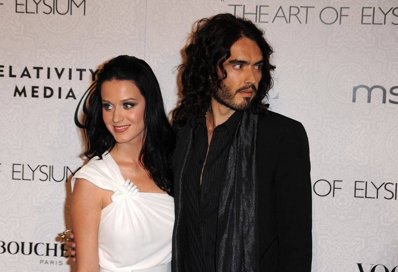 """Katy Perry and Russell Brand, comedian arrives at the 3rd Annual Art Of Elysium """"Heaven"""" Gala Event. 