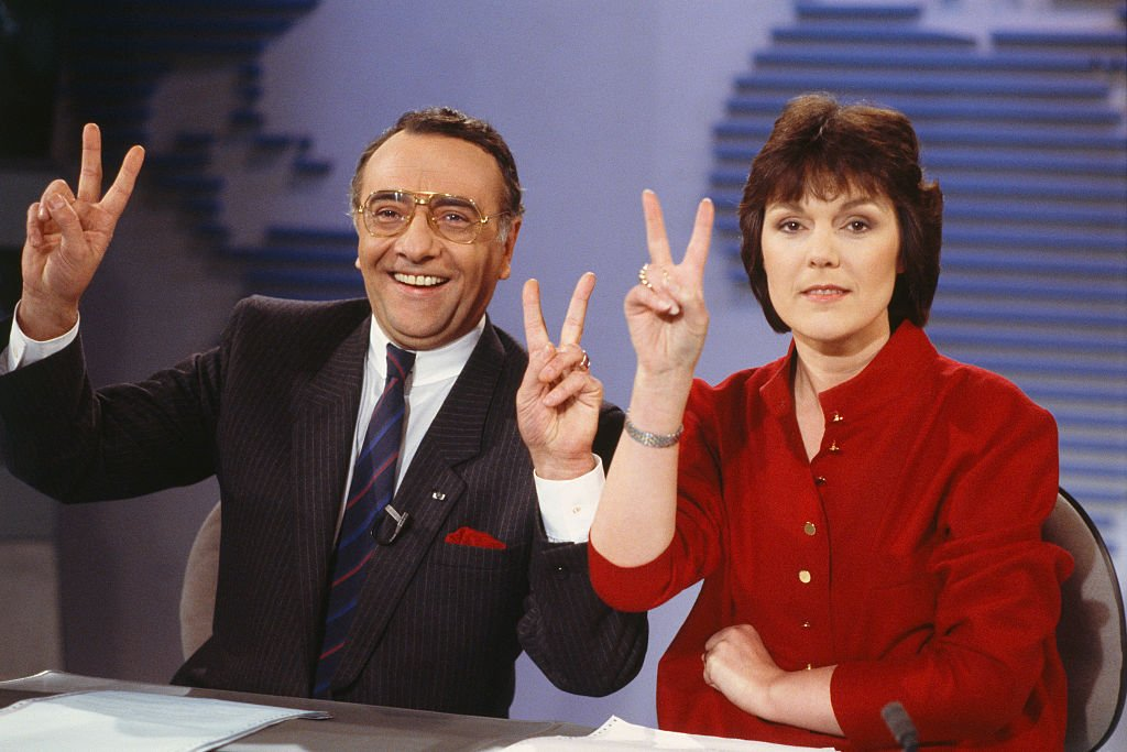 Yves Mourousi et Marie-Laure Augry. I photo : Getty Images