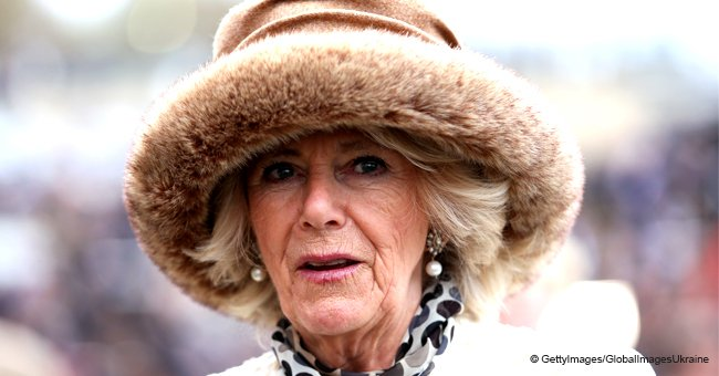 Duchess Camilla Wows in a Crisp White Coat with a Polka-Dot Dress for Ladies Day