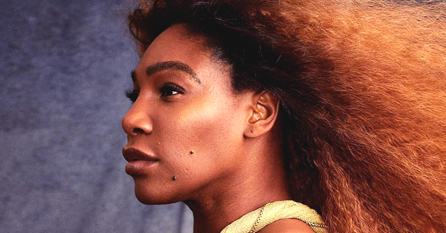 Serena Williams Poses Unretouched in a Classy Sparkling Golden Dress for Harper's Bazaar